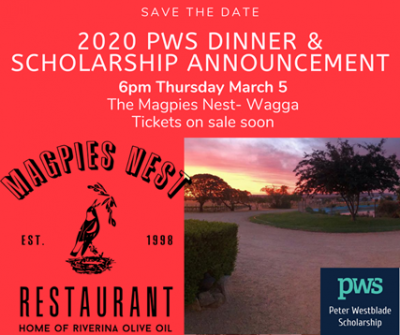 2020 PWS Dinner & Scholarship Announcement